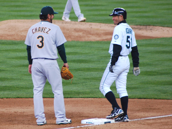 Eric Chavez and Ichiro Suzuki