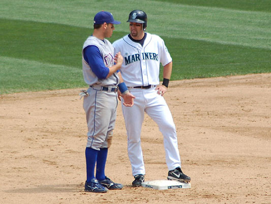 Ian Kinsler and Willie Bloomquist
