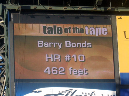 Bonds Home Run #10, 462 feet